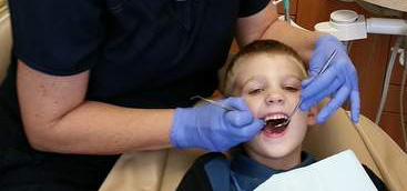 Mobile dental van helping providing oral care to children